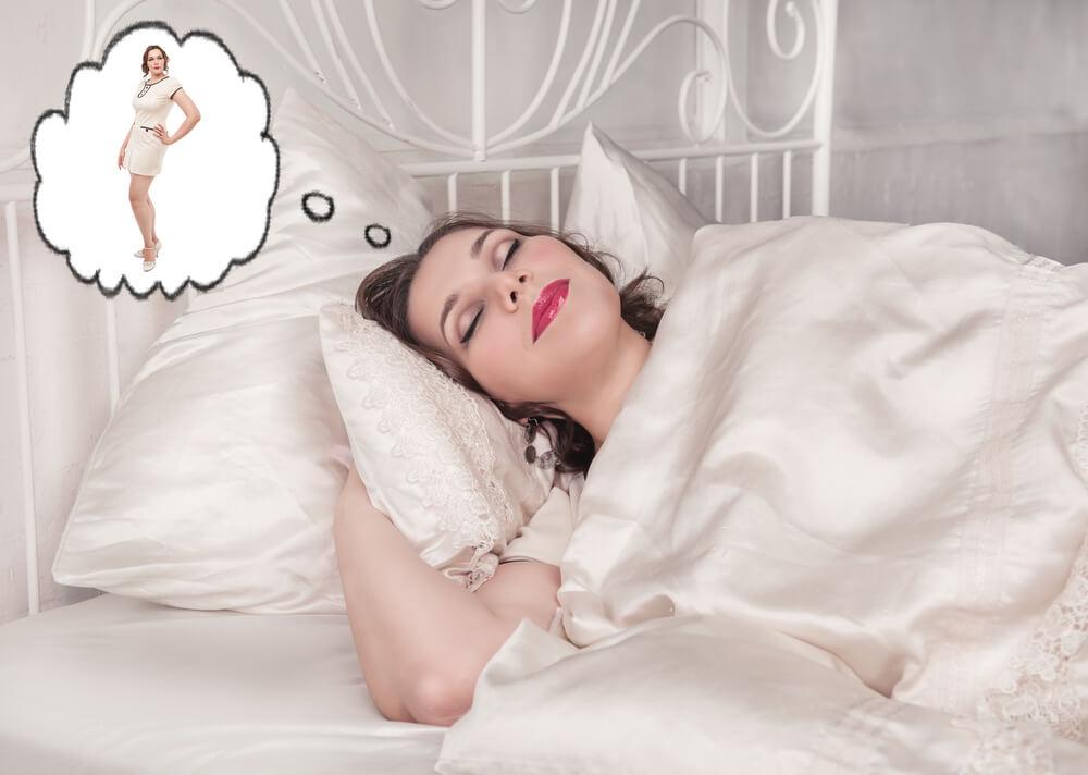 во сколько человек худеет во сне